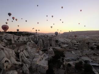 La Cappadocia dall'alto